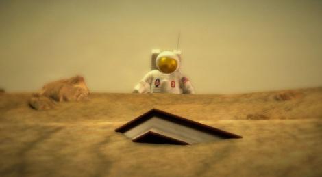 astronaute lifeless planet