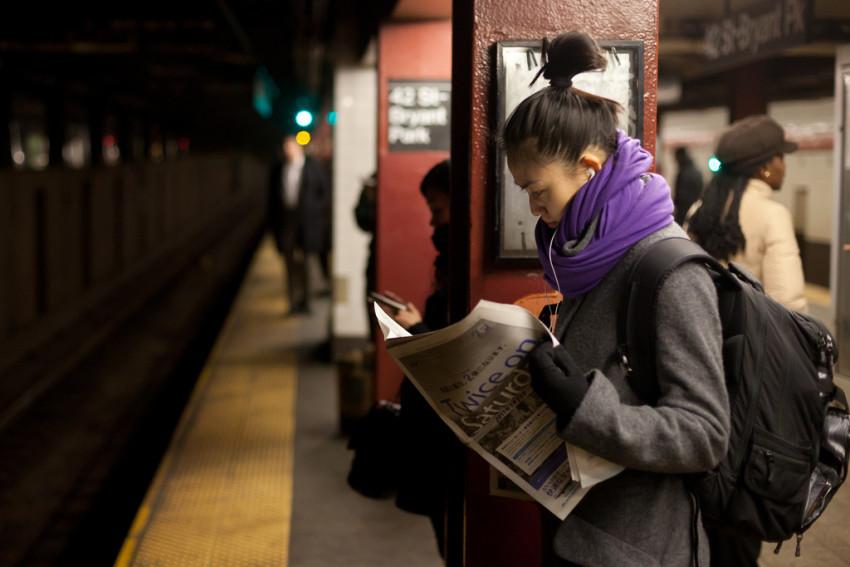 Lectrice de presse