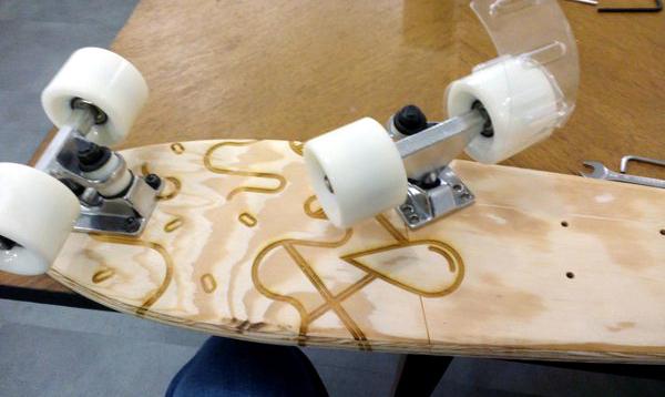 J'ai même commencé à créer mon propre skate.