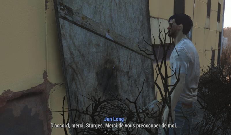 Sturges n'est pas le nom du mur, mais de quelqu'un qui est derrière le mur. Je trouve que cette scène exprime une grande solitude.